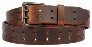 Distressed brown belt